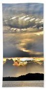 Angel Ray Sunset Beach Towel
