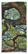 Angel Tree Abstract Beach Towel