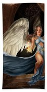 Angel Warrior Beach Towel