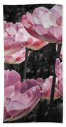 Angelique Peony Tulips Beach Towel