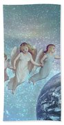 Angels Above Beach Towel