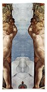 Angels And Fruits Beach Towel