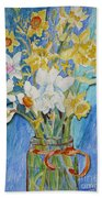 Angels Flowers Beach Towel