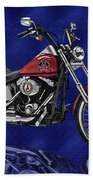 Angels Harley - Oil Beach Towel