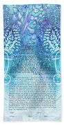 Angels Ketubah-reformed And Interfaith Version Beach Towel