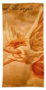 Angels On Guard Beach Towel