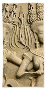 Angkor Wat Relief Beach Towel