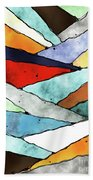 Angles Of Textured Colors Beach Towel