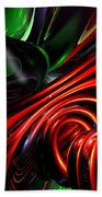 Angry Clown Abstract Beach Towel