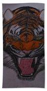 Angry Tiger Beach Towel