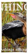 Anhinga The Swimming Bird Beach Towel