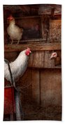Animal - Chicken - The Duck Is A Spy  Beach Towel by Mike Savad