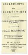 Animal Electricity, Title Page Beach Towel