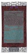 Animal  Ketubah- Reformed And Interfaith Version Beach Towel