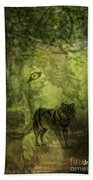Animal Sprits - The Wolf Beach Towel