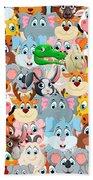 Animals Zoo Beach Towel
