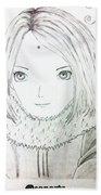 Anime Drawing  Beach Towel