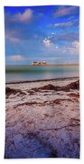 Anna Maria City Pier Beach Towel by Doug Camara
