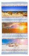 Anna Maria Island Beach Collage Beach Towel
