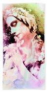 Anna Pavlova Whimsical Ballerina Beach Towel