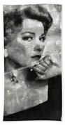 Anne Baxter Vintage Hollywood Actress Beach Towel
