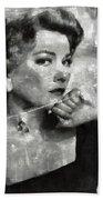 Anne Baxter Vintage Hollywood Actress Beach Sheet