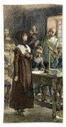 Anne Hutchinson, 1591-1643 Beach Towel