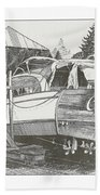Annual Haul Out Chris Craft Yacht Beach Towel