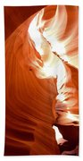 Antelope Canyon Scuplture Beach Towel