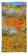 Antelope Valley Poppies Beach Towel