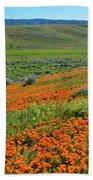 Antelope Valley Poppy Reserve Beach Towel