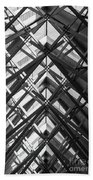 Anthony Skylights Grayscale Beach Towel
