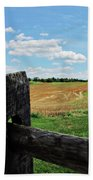 Antietam Farm Fence 2 Beach Towel