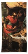 Antiochus And Stratonike Beach Towel