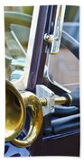 Antique Brass Car Horn Beach Towel