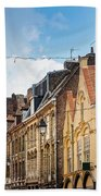 antique building view in Old Town Lille, France Beach Towel