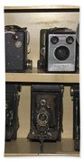 Antique Cameras Beach Towel