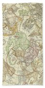 Antique Celestial Map Beach Towel