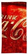 Antique Coca-cola Cooler Beach Towel