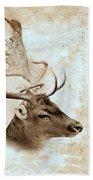 Antique Deer Beach Towel