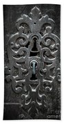 Antique Door Lock Beach Towel