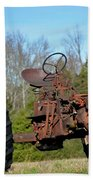 Antique Farmall Tractor 4a Beach Towel