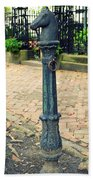 Antique Hitching Post Beach Towel