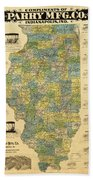 Antique Map Of Indianapolis By The Parry Mfg Company - Historical Map Beach Towel