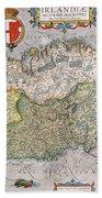 Antique Map Of Ireland Beach Towel
