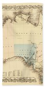 Antique Maps - Old Cartographic Maps - Antique Map Of Australia Beach Towel