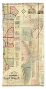 Antique Maps - Old Cartographic Maps - Antique Map Of Lawrence And Beaver Counties, 1860 Beach Towel