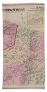 Antique Maps - Old Cartographic Maps - Antique Map Of Sudbury, Canada, 1875 Beach Towel
