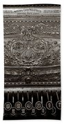 Antique Ncr - Sepia Beach Towel