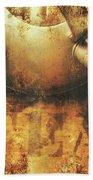 Antique Old Tea Metal Sign. Rusted Drinks Artwork Beach Towel